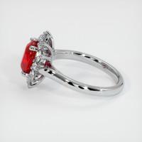 2.27 Ct. Ruby  Ring - 14K White Gold