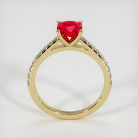 1.26 Ct. Ruby  Ring - 18K Yellow Gold