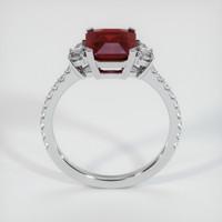 2.53 Ct. Ruby  Ring - 14K White Gold