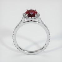 1.81 Ct. Ruby  Ring - 14K White Gold