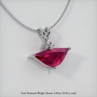 1.45 Ct. Ruby  Pendant - 14K White Gold