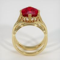 7.02 Ct. Ruby  Ring - 18K Yellow Gold