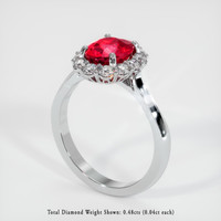 2.00 Ct. Ruby  Ring - Platinum 950