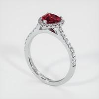 1.32 Ct. Ruby  Ring - Platinum 950