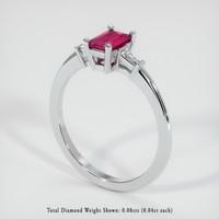 0.50 Ct. Ruby  Ring - 14K White Gold