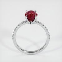 2.63 Ct. Ruby  Ring - 14K White Gold
