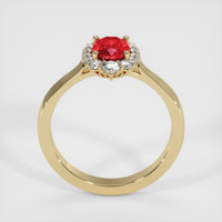 0.93 Ct. Ruby  Ring - 14K Yellow Gold