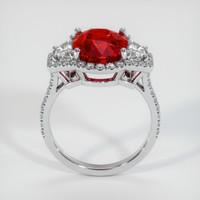 6.02 Ct. Ruby  Ring - 18K White Gold