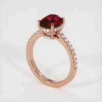 2.63 Ct. Ruby  Ring - 14K Rose Gold