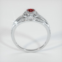0.46 Ct. Ruby  Ring - 18K White Gold