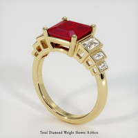 2.92 Ct. Ruby  Ring - 18K Yellow Gold