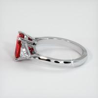 2.23 Ct. Ruby  Ring - 14K White Gold