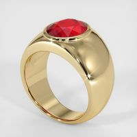 4.24 Ct. Ruby  Ring - 14K Yellow Gold