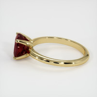 2.01 Ct. Ruby  Ring - 18K Yellow Gold