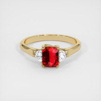1.01 Ct. Ruby  Ring - 14K Yellow Gold