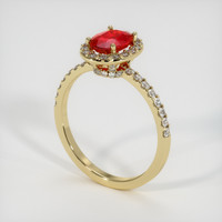 1.00 Ct. Ruby  Ring - 18K Yellow Gold