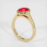 2.00 Ct. Ruby  Ring - 14K Yellow Gold