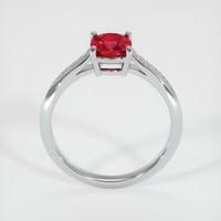 1.26 Ct. Ruby  Ring - 18K White Gold