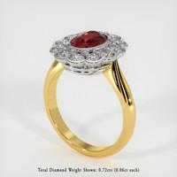 1.36 Ct. Ruby  Ring - 18K White Yellow