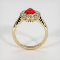 1.57 Ct. Ruby  Ring - 14K Yellow Gold