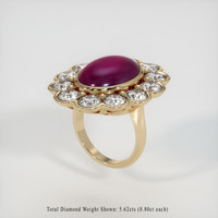 24.98 Ct. Ruby  Ring - 14K Yellow Gold