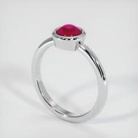 1.69 Ct. Ruby  Ring - 14K White Gold