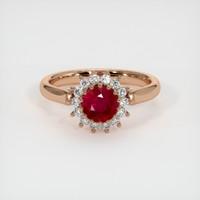 1.14 Ct. Ruby  Ring - 14K Rose Gold