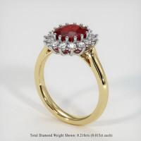 1.18 Ct. Ruby  Ring - 18K White Yellow