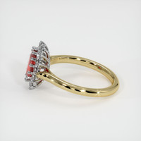 1.50 Ct. Ruby  Ring - 18K White Yellow